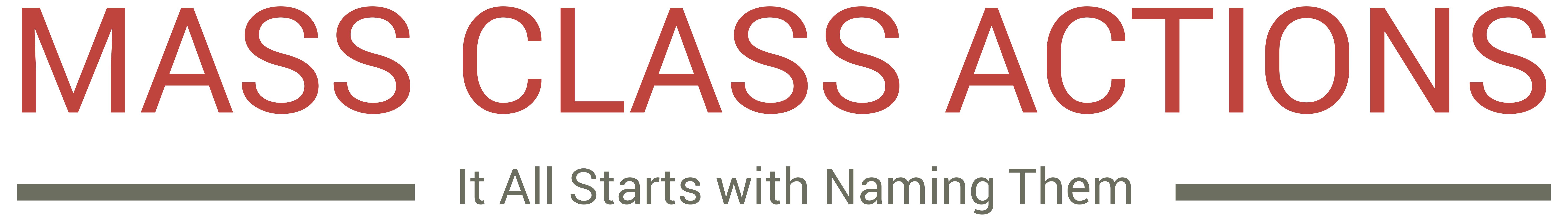 Mass Class Actions
